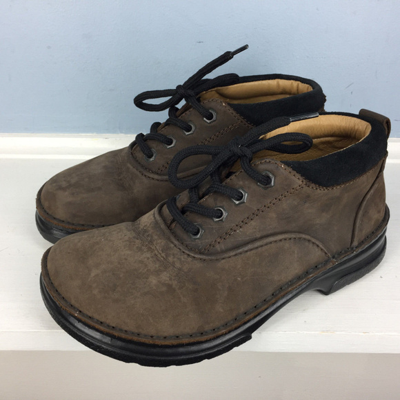 BIRKENSTOCK Brown Leather Chukka Boot Lace up 36